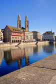 Zurich, the Great Minster — Stock Photo