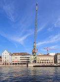 Dockside crane in Zurich — Stock Photo