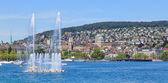 Lake Zurich and Zurich cityscape — Stock Photo