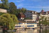 Zurich, the Limmat river — Foto de Stock