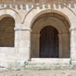 Mozarabic chapel with Romanesque portico — Stock Photo