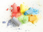 Colored chalk painting — Stock Photo