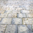 Wet pavement flagstones of the city of Burgos — Stock Photo