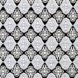Damask seamless pattern black-white — Stock Photo