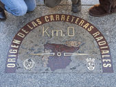 Km 0 ,madrid ,spain — Stock Photo