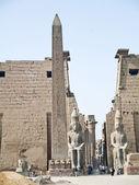 Ramses II and Obelisk of Luxor Temple. Luxor, Egypt — Stock Photo