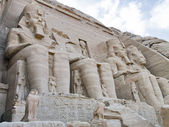 Front view of Temple of King Ramses II in Abu Simbel — Stock Photo