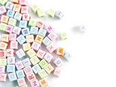 Image of various colorful blocks with the alphabet — Stock Photo