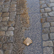 Symbol of the camino de santiago - Stock Photo