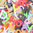 Stock Photo: Letters and numbers and colors
