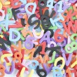 Letters and numbers and colors — Stock Photo