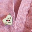 Heart shaped button — Stock Photo