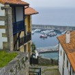 View of Lastres, accurate coastal village of Asturias — Stock Photo