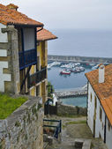 View of Lastres, accurate coastal village of Asturias — Foto Stock