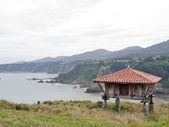 Granary in the maritime coast of Asturias — Stock Photo