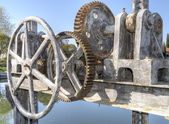 Cranks and pulleys — Stock Photo