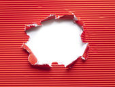 Paper torn hole — Stock Photo