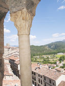 Window Romanesque medieval village from the village of frias — Stock Photo