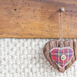 Fabric heart hanging — Stock Photo #38352229