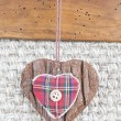 Fabric heart hanging — Stock Photo #38352877