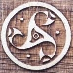 Celtic triskele symbo — Stock Photo