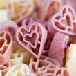 Heart shaped pasta — Stock Photo