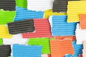 Pieces of colored construction paper — Stock Photo