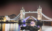 Famous Tower Bridge in the evening, London — Stock Photo