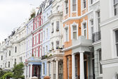 Notting Hill colorful houses — Stock Photo