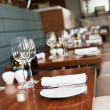 Restaurant table setup — Foto Stock