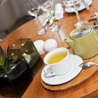Tea service in reastaurant — Stock Photo