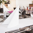 Restauraant table setup — Stock Photo #15696397