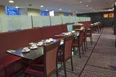 Restaurant tables setup — Stock Photo