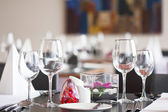 Restauraant table setup — Stock Photo
