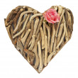 Royalty-Free Stock Photo: Hand-made ornamental heart made of dry sticks