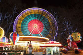Ferris Wheel at amusement Christmas fair — Stock Photo