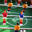 Stock Photo: Foosball game in action