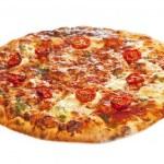 ������, ������: Close up of stone backed pizza margarita