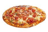 Close-up of stone backed pizza margarita — Stock Photo