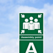 ' Assembly point' sign — Stock Photo