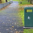 Stock Photo: Metal Waste Container In Park