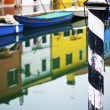 Vivid colours of Burano houses — Stock Photo
