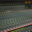 Large Music Mixer desk in recotding studio — Stock Photo #16781807