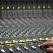 Large Music Mixer desk in recotding studio - Stock Photo