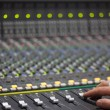 Large Music Mixer desk in recotding studio — Stock Photo #16781825