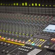 Large Music Mixer desk in recording studio — Stock Photo
