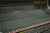 Large Music Mixer desk in recotding studio — Stock Photo