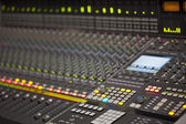 Large Music Mixer desk in recording studio — Stock Photo