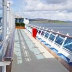 Постер, плакат: Walk way on sundeck of the cruise ship