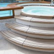 Stock Photo: Whirlpool on deck of cruise ship